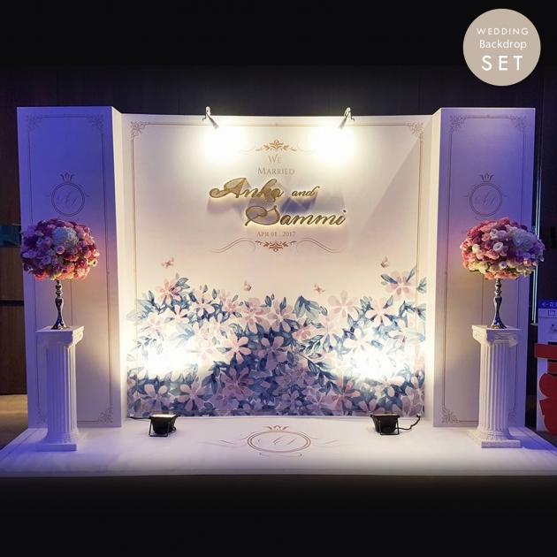 皇室莊園  婚禮背板套組(全) 2