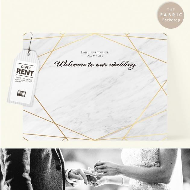 鑽石伉儷 布式婚禮背板 1