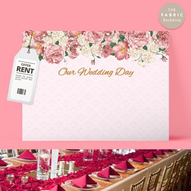 暖花 布式婚禮背板 1
