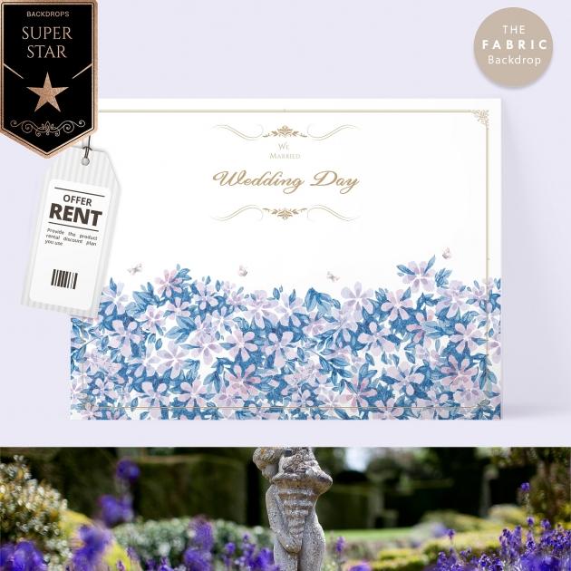 皇室莊園 布式婚禮背板 1