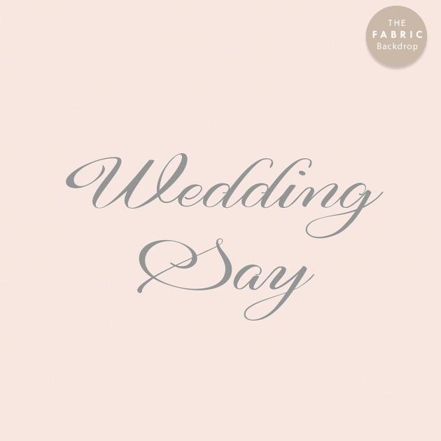 情深朱槿 布式婚禮背板 2