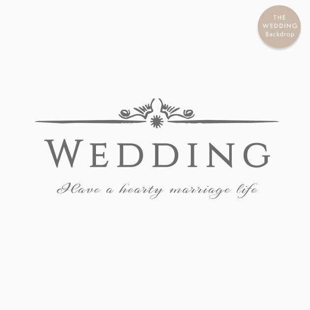 心繫一生 布式婚禮背板 2