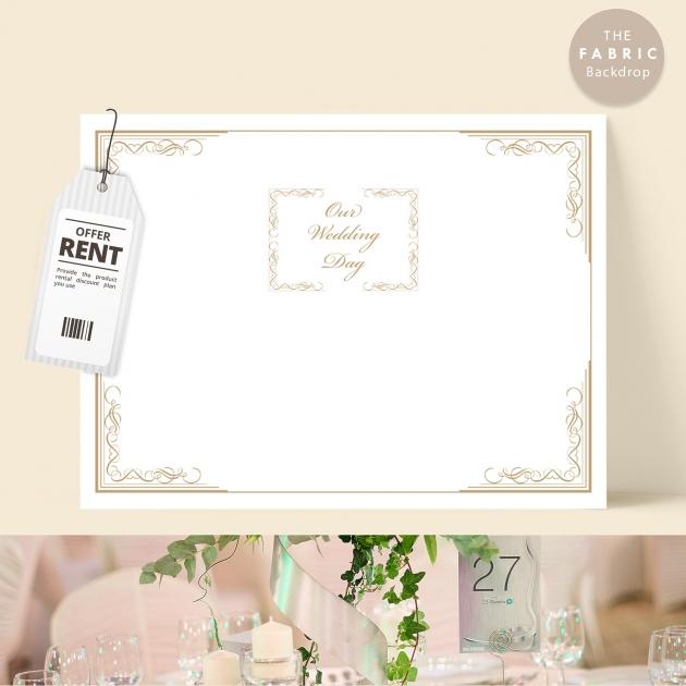 低調小奢華 布式婚禮背板 1