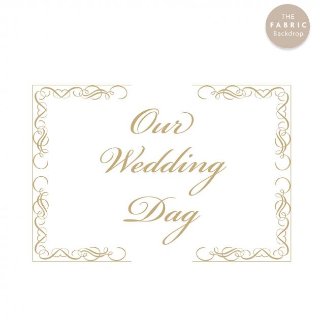 低調小奢華 布式婚禮背板 2