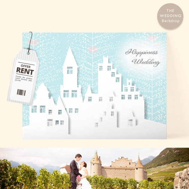 幸福城堡 布式婚禮背板 1
