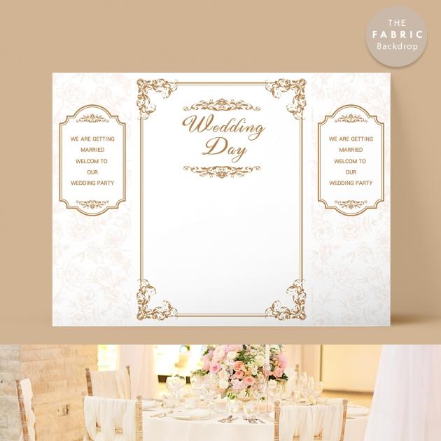 巴洛克風情 布式婚禮背板 1