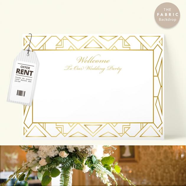 大亨小傳 布式婚禮背板 1
